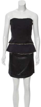 Maison Margiela Strapless Wool Dress w/ Tags