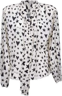 Fausto Puglisi Star & Heart Print Blouse