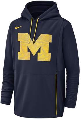 Nike Men's Michigan Wolverines Therma Pullover Hoodie