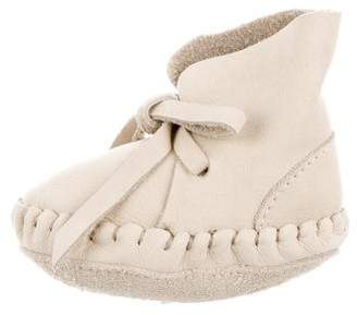 Donsje Boys' Suede Lace-Up Moccasins w/ Tags
