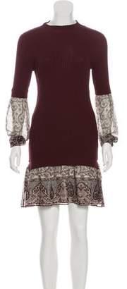 Veronica Beard Layered Rib Knit Dress