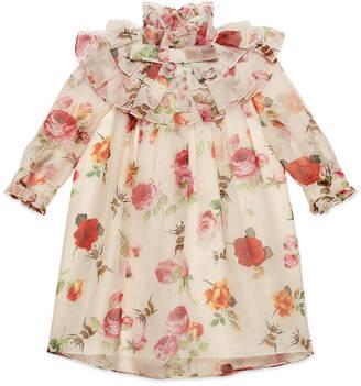 Children's rose print organza dress $780 thestylecure.com