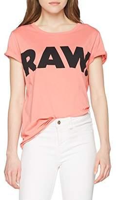 G Star Women's Seranie Straight R T S/s T-Shirt, (Cactus Pink 3514), Medium