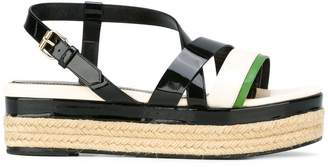 Lanvin strap detail wedge sandals