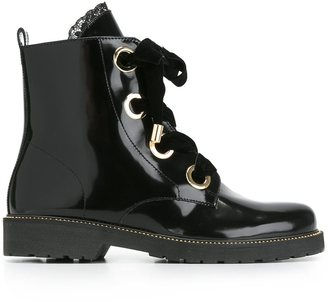 Twin-Set oversized lace boots $283.94 thestylecure.com