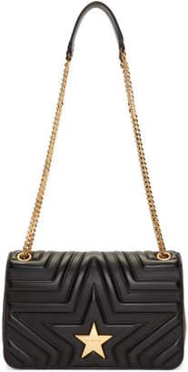 Stella McCartney Black Medium Stella Star Flap Over Bag