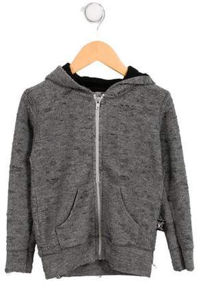 Nununu Boys' Distressed Zip-Up Hoodie