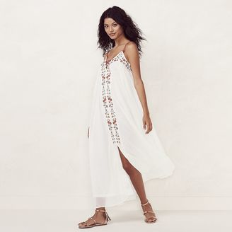 Women's LC Lauren Conrad Embroidered Maxi Dress $78 thestylecure.com