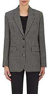 Helmut Lang Women's Checked Wool Three-Button Jacket - Shadow Multi