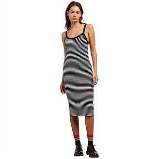 Volcom Junior's Rave New World MIDI Length Body CON Dress