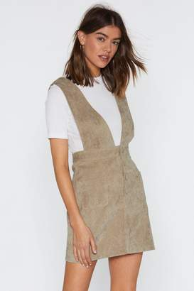 40c622e3bf2 Nasty Gal Over the Top Corduroy Pinafore Dress