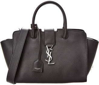 Saint Laurent Downtown Cabas Baby Leather Tote