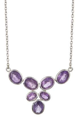 Argentovivo Sterling Silver Multi Stone Mini Bib Necklace