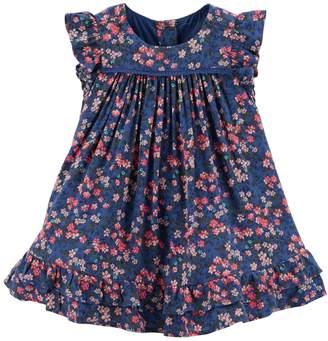 Osh Kosh Oshkosh Bgosh Baby Girl Floral Ruffle Swing Dress