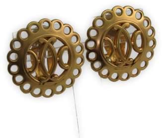 Hermes Gold Tone Hardware Clip Earrings