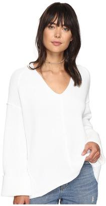 Free People - La Brea V-Neck Sweater Women's Sweater $108 thestylecure.com