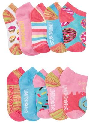 Limited Too Donut No Show Socks - Pack Of 10 (Little Kid & Big Kid)