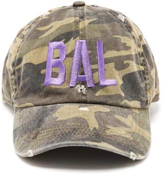 David & Young Baltimore Distressed Camo Baseball Hat
