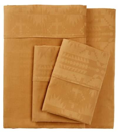 Spider Rock Jacquard King Pillowcase - Camel