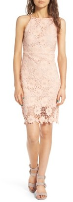 Women's Soprano High Neck Lace Body-Con Dress $49 thestylecure.com