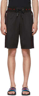 Givenchy Black Sports Logo Bermuda Shorts