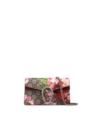 Gucci Dionysus GG Blooms Super Mini Bag, Neutral/Multi $750 thestylecure.com