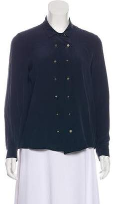 The Kooples Long Sleeve Button-Up Blouse