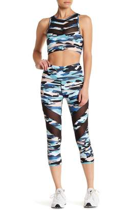 C&C California Trop Printed Mesh Panel Leggings