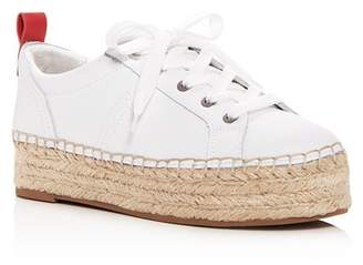 Sam Edelman Women's Carleigh Leather Platform Espadrille Sneakers