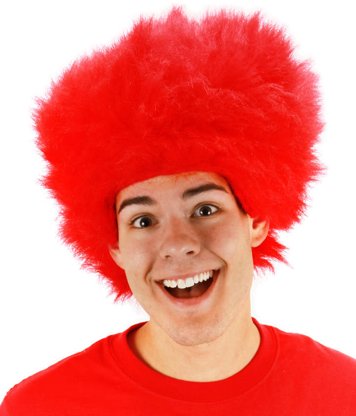 Red Fuzzy Wig
