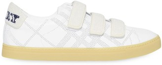 Burberry strap detail perforated check sneakers