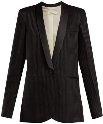 Masscob Alvy Single Breasted Crepe Blazer - Womens - Black