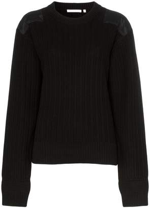90b1a55b19 Helmut Lang ribbed elbow patch cotton jumper