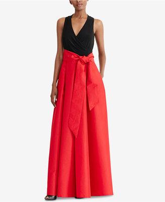 Lauren Ralph Lauren Taffeta-Skirt Ball Gown $280 thestylecure.com