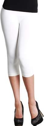 Nikibiki Women's Nylon 3/4 Smooth Crop Leggings