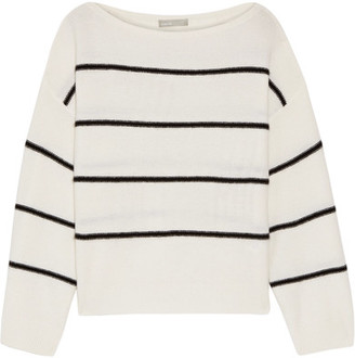 Vince - Striped Cashmere Sweater - Ivory $355 thestylecure.com