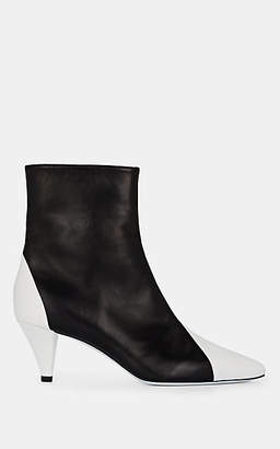 Givenchy Women's Stretch-Leather Ankle Boots - Wht.&blk.
