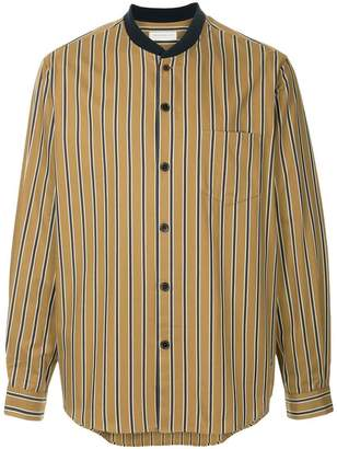 TOMORROWLAND striped shawl collar shirt