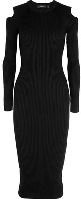 Theory - Jemlora Cutout Ribbed Wool-blend Dress - Black $455 thestylecure.com