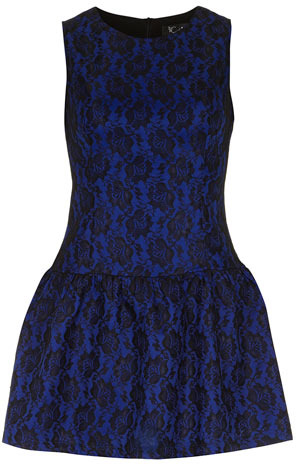 Dorothy Perkins Blue lace sleeveless tunic