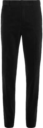 Polo Ralph Lauren Black Slim-Fit Stretch-Cotton Corduroy Suit Trousers $275 thestylecure.com