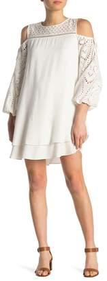 Hale Bob Cold Shoulder Crochet Dress