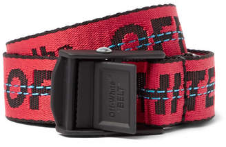 Off-White 2.5cm Red Industrial Canvas Belt