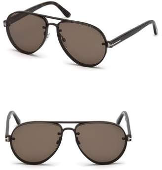 Tom Ford Alexei 62mm Oversize Aviator Sunglasses