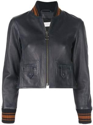 Victoria Victoria Beckham striped trim jacket