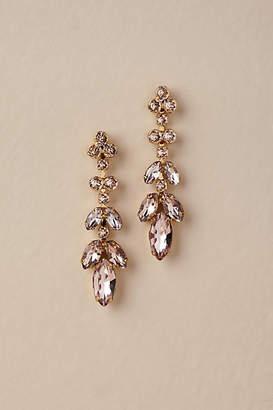 Anthropologie Crystal Petals Earrings