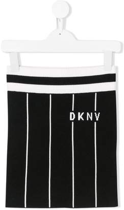 DKNY striped knitted skirt