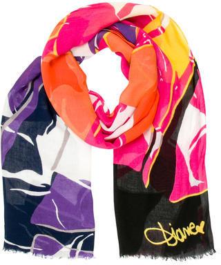 Diane von Furstenberg Abstract Print Scarf $65 thestylecure.com