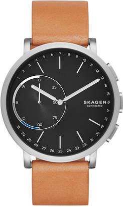 Skagen Connected Unisex Hagen Tan Leather Strap Hybrid Smart Watch 42mm SKT1104