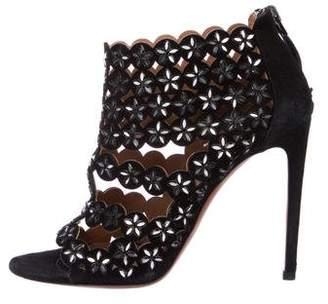 Alaia Caged Embellished Sandals